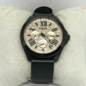 Fossil Men's Black Leather Analog Dial Watch Ff20